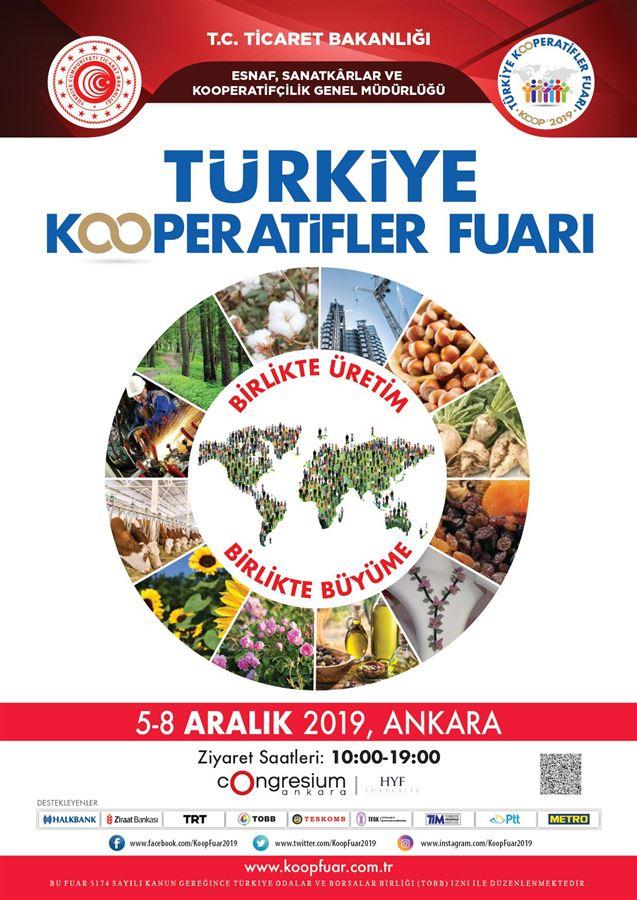 5-8 Aralık 2019 tarihlerinde Ankara'da gerçekleşecek Türkiye Kooperatifler Fuarı hakkında katılımcılara bilgi verildi.
